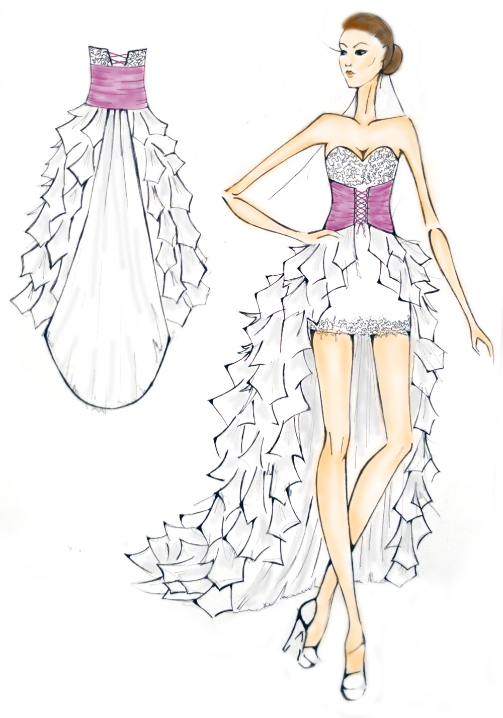 Картинки рисовать легко и красиво платья