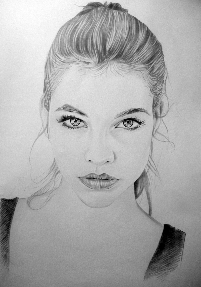 Часть, картинка лицо девушки нарисованные