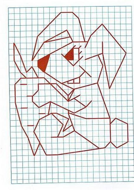 Анимации берегите, оригами рисунок по клеточкам
