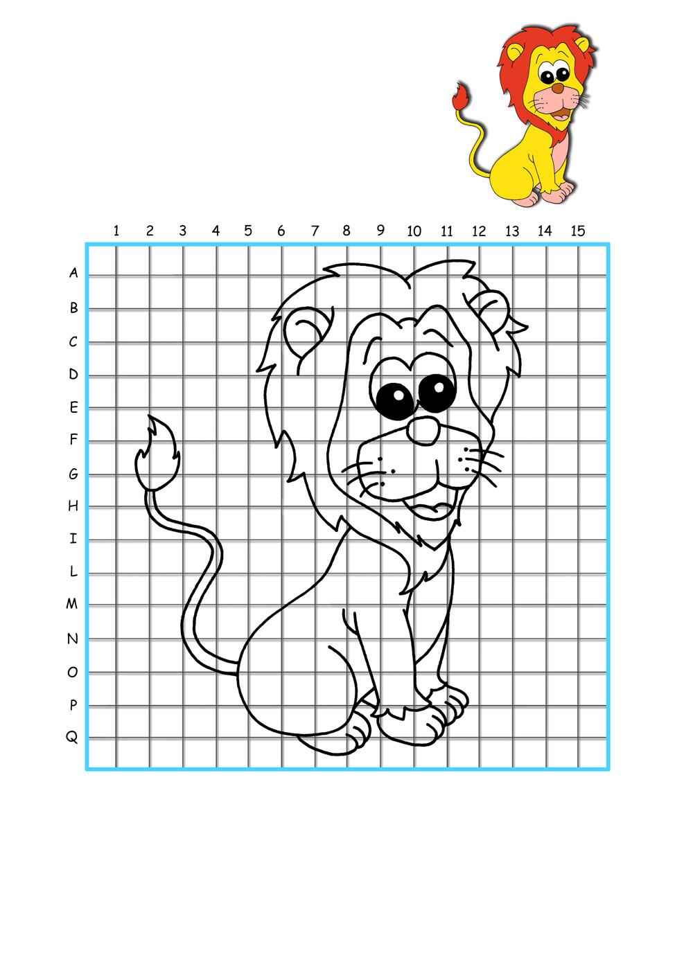 Рисунки простым карандашом по клеточкам