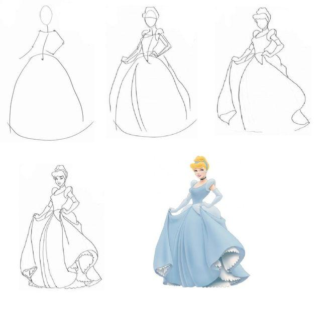 """Рисунок """"девушка в платье"""" карандашом"""