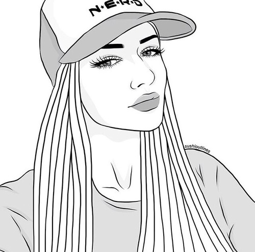 Рисунки девушек карандашом в стиле арт