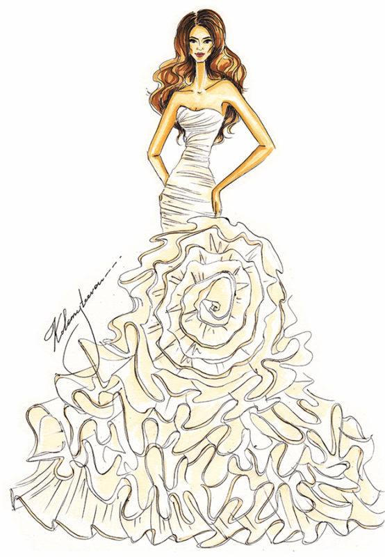 Рисунок карандашом девушка в платье Как Рисовать Портрет Девушки Карандашом