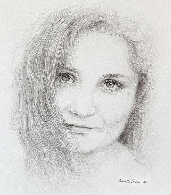 картинки портретов рисунок карандашом натуральном оттенке
