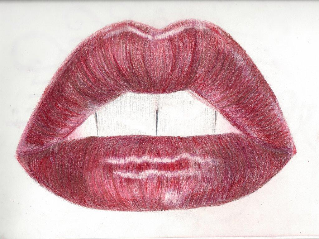 Приколы про, рисунок большие губы