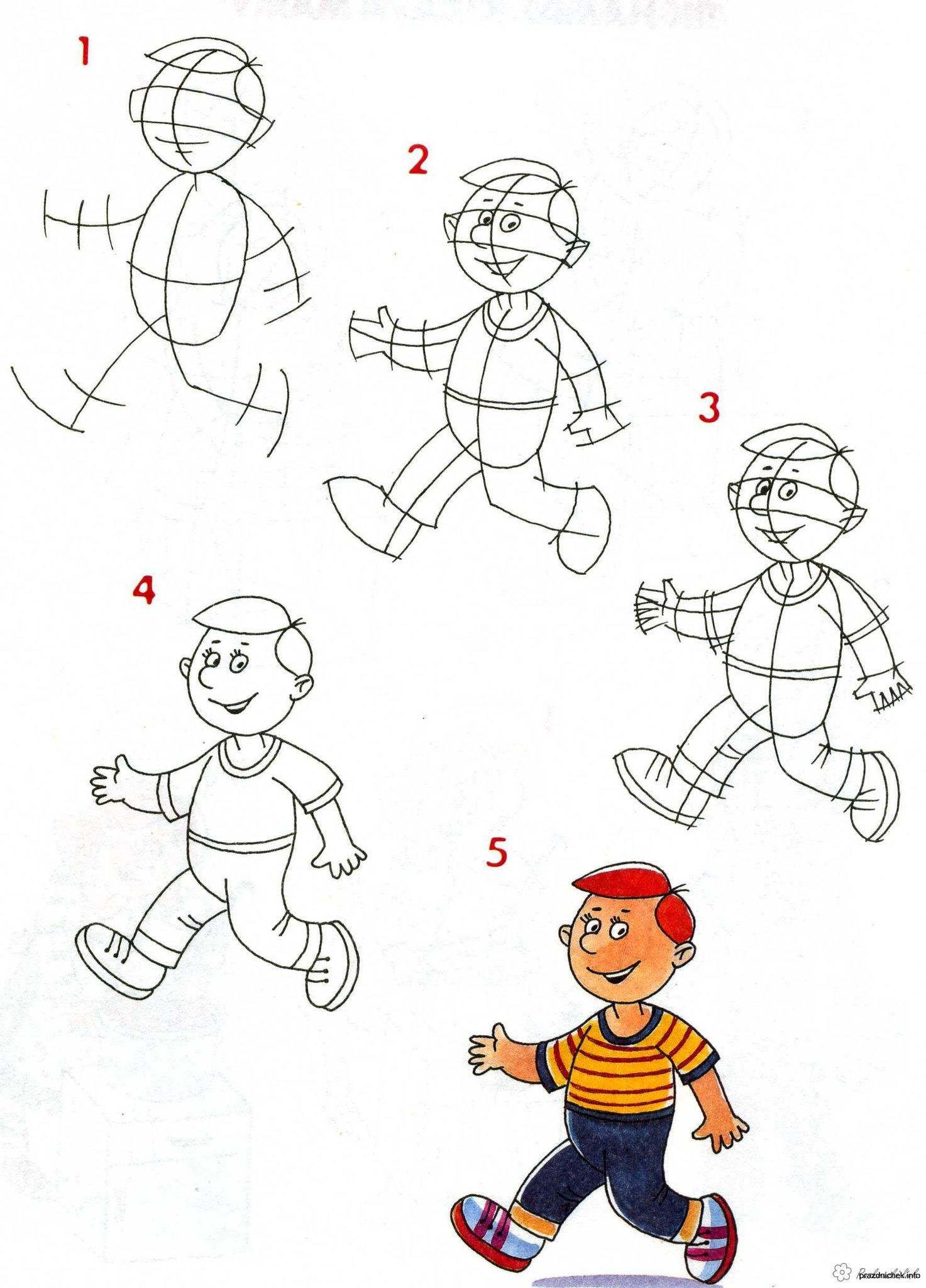 Картинки для детей как нарисовать человека
