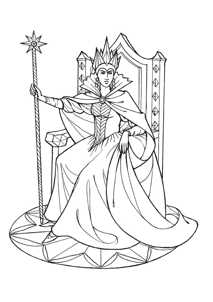 Снежная королева раскраска картинки