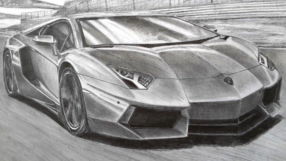 Крутые машины рисунок