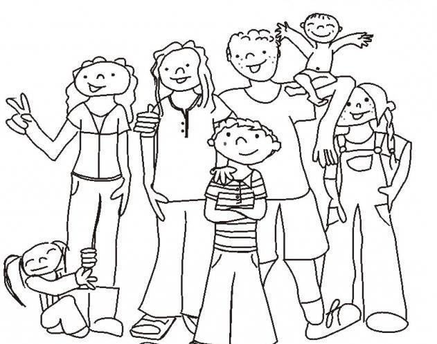 Картинки семьи карандашом простыми словами