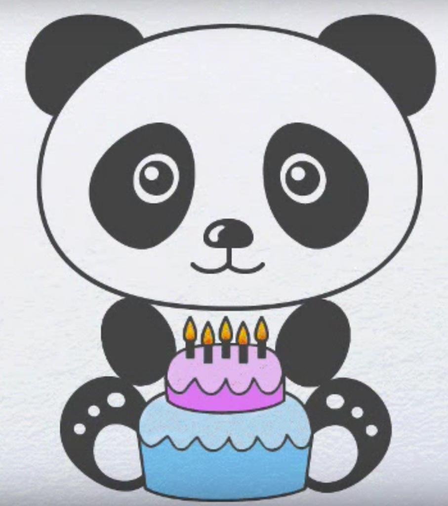 Легко нарисовать открытку на день рождения