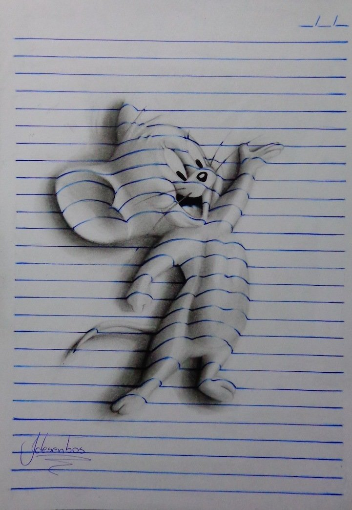 Прикольные рисунки карандашом 3д, картинки миньонами открытка