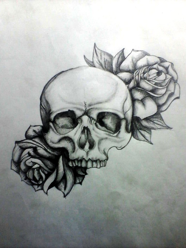 Прикольные картинки карандашом череп