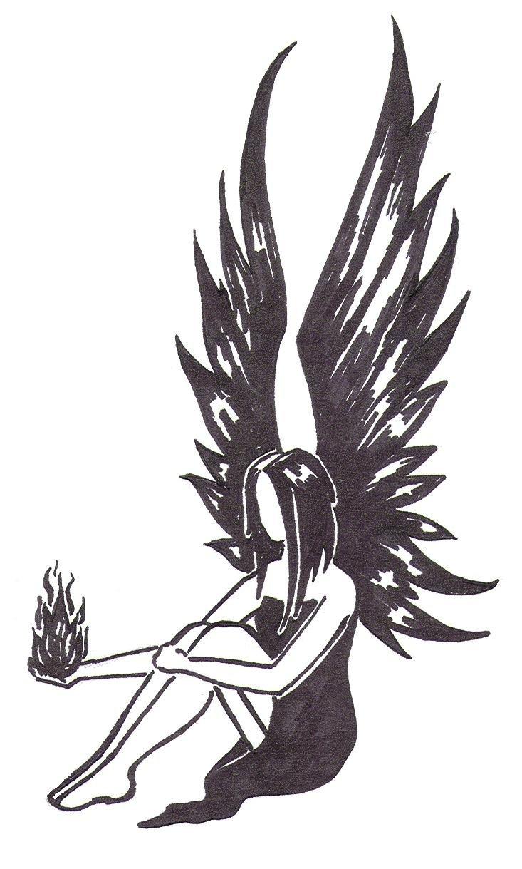Картинки люди с крыльями для срисовки
