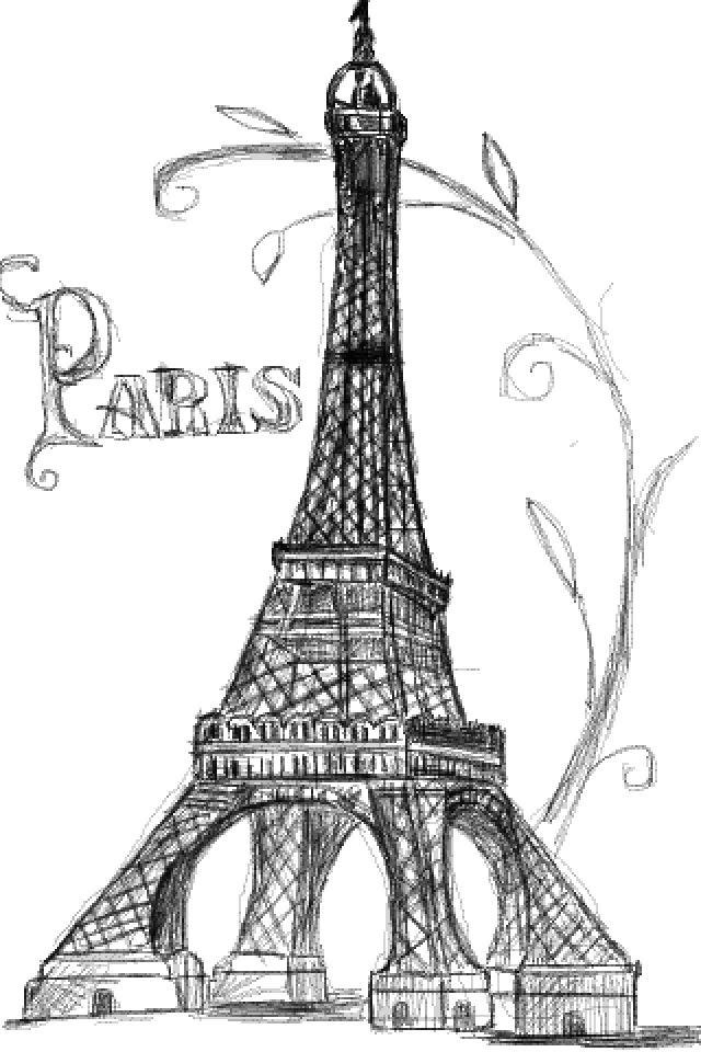 эйфелева башня картинки нарисованы карандашом осуществляется правилам