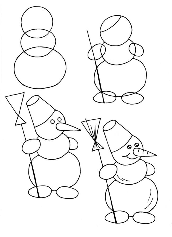 Картинки для детей рисовать карандашом, картинки