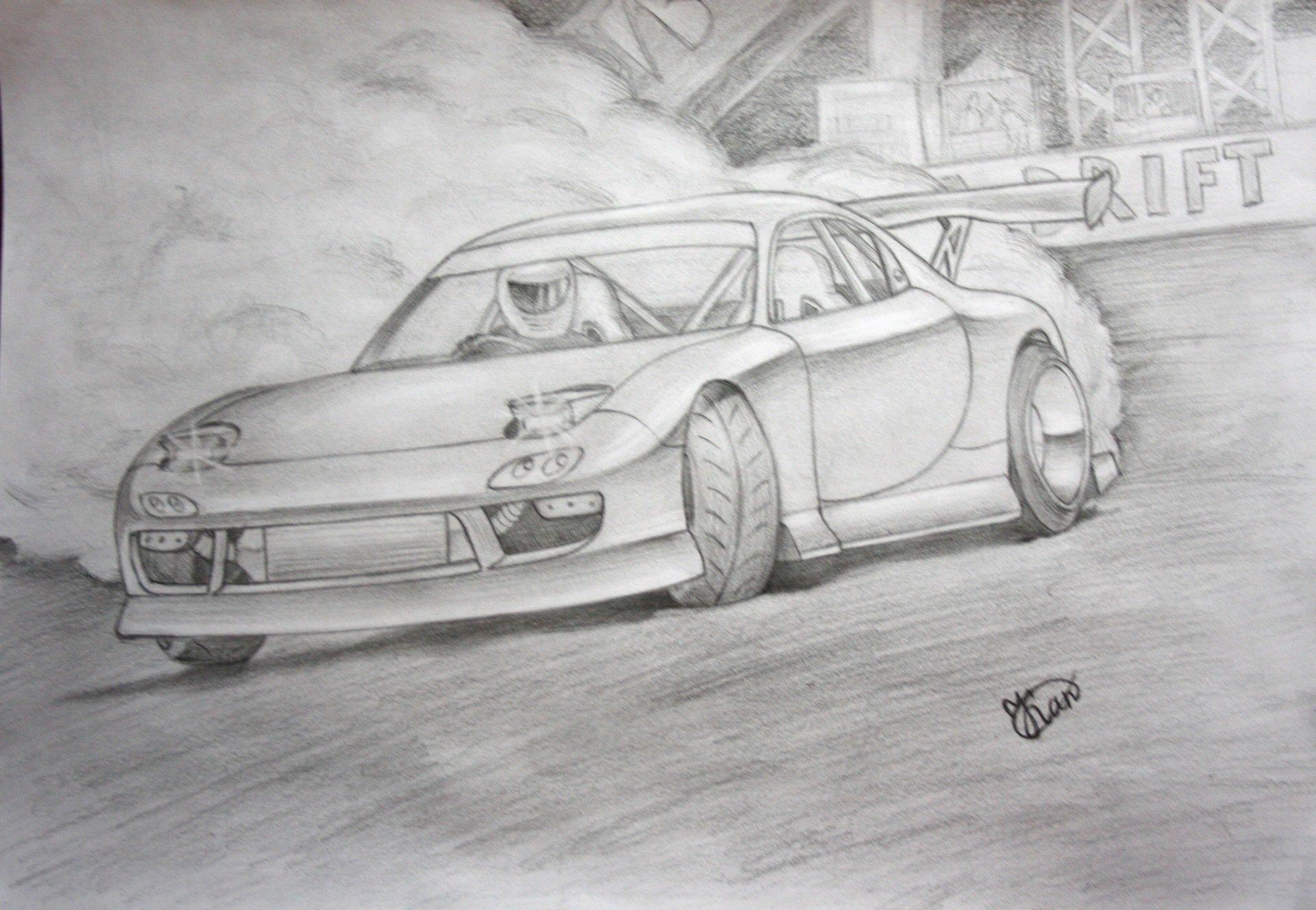 Картинка для срисовки машины