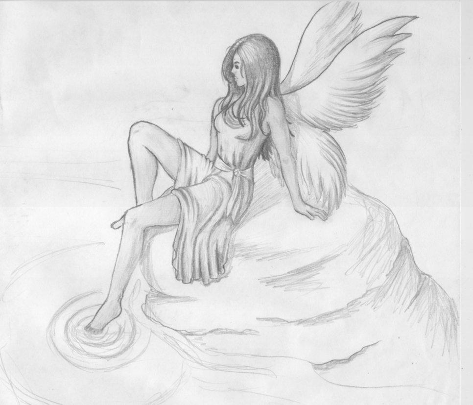 Картинки ангелы рисунки карандашом