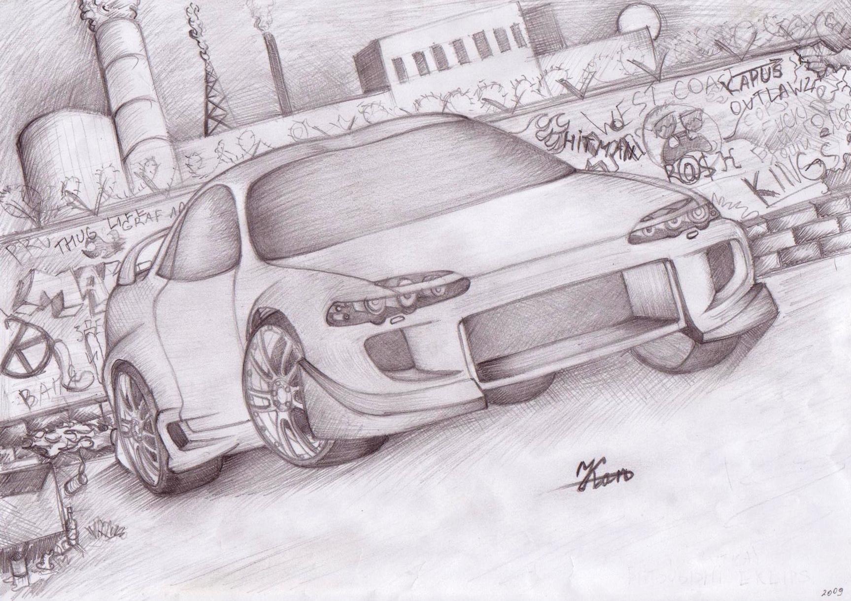 Машины нарисованные карандашом картинки, для сайта