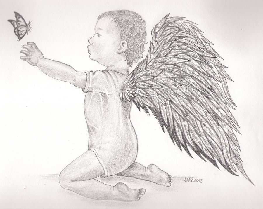 подключения картинки карандашом ангелы как нарисовать второй части
