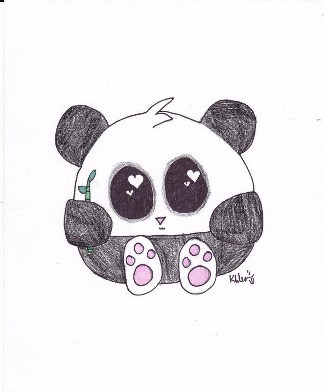 школе картинки милых панд карандашом тиарка