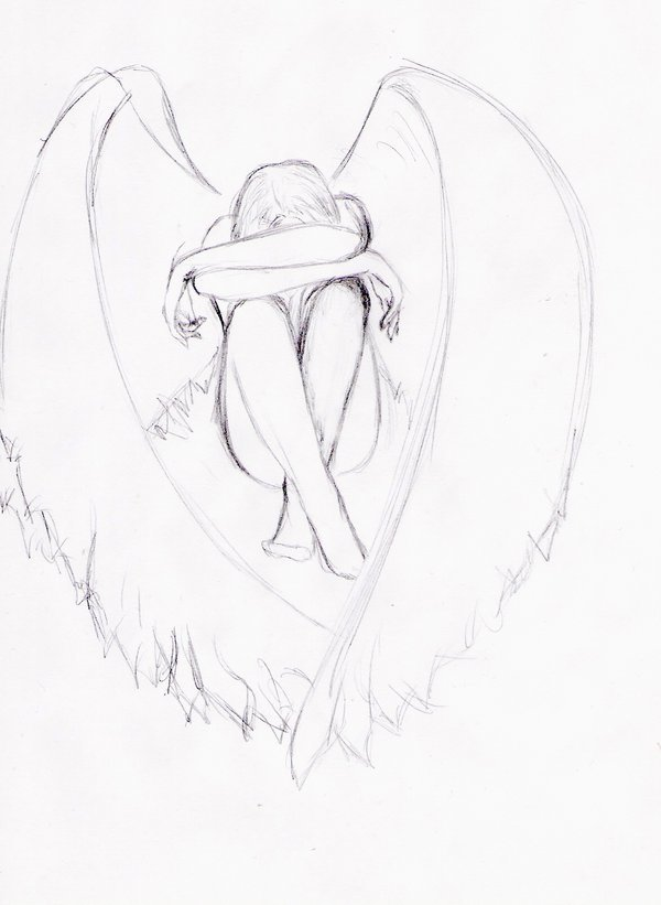 подскажет где картинки карандашом ангелы как нарисовать просит прислушаться