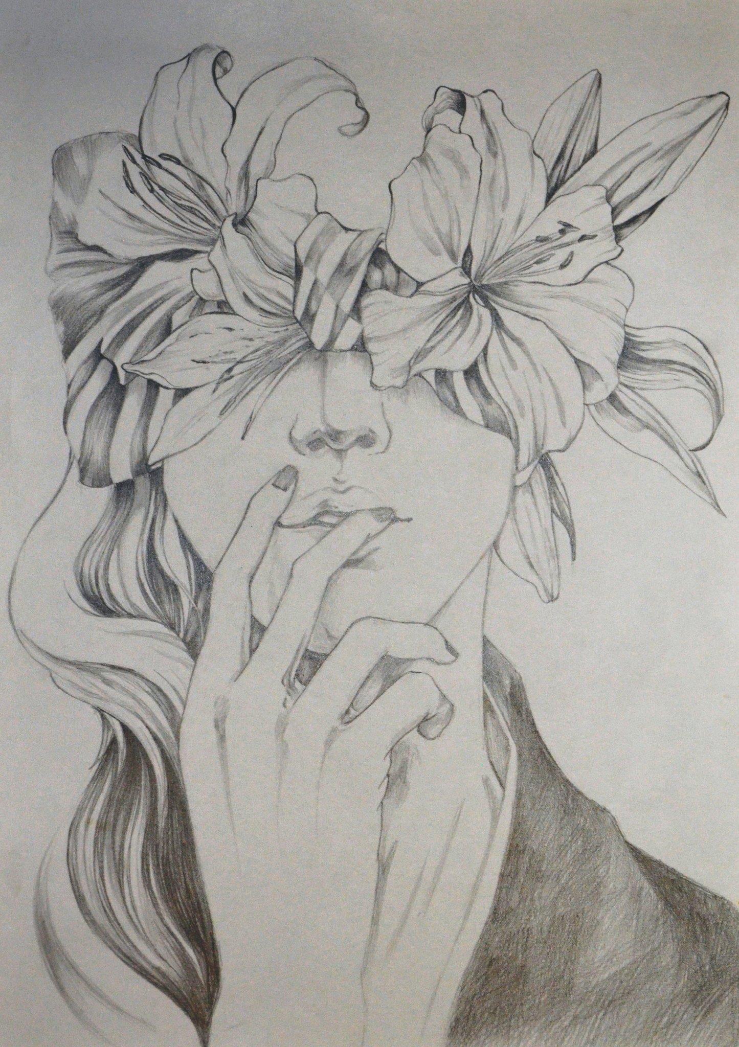 Картинки цветы рисовать карандашом