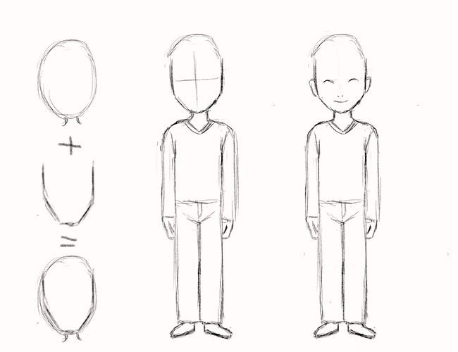 картинки для учения рисовать карандашом людей