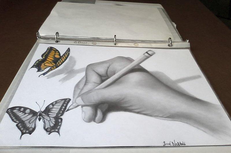 Рисунки 3д карандашом поэтапно