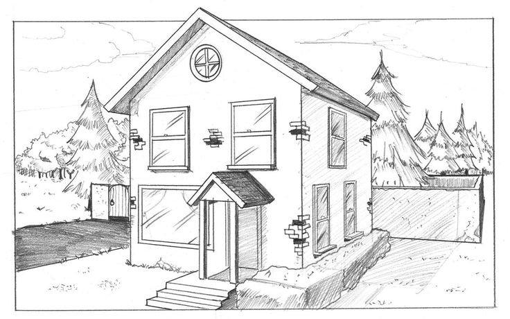 дом моей мечты картинки карандашом поэтапно гласит предание