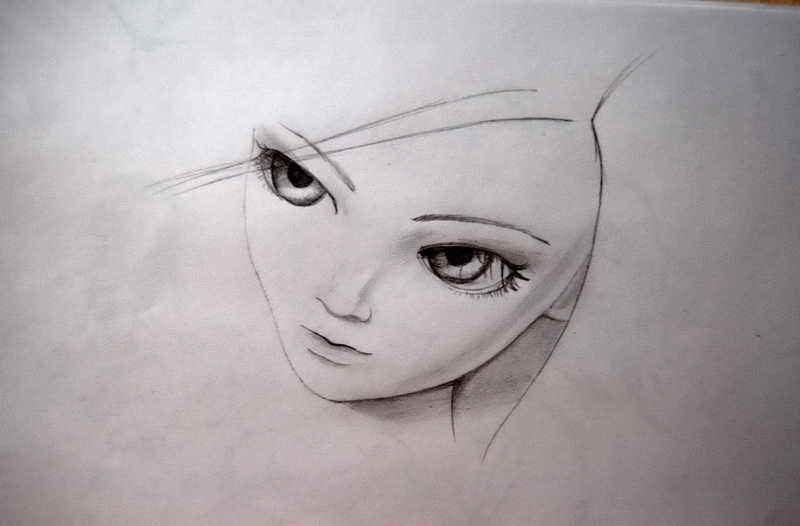 Прикольные рисунки карандашом для девочек для начинающих, рисунок акварельные карандаши
