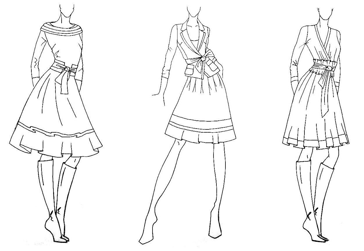 Рисунки платья карандашом карандашные платья