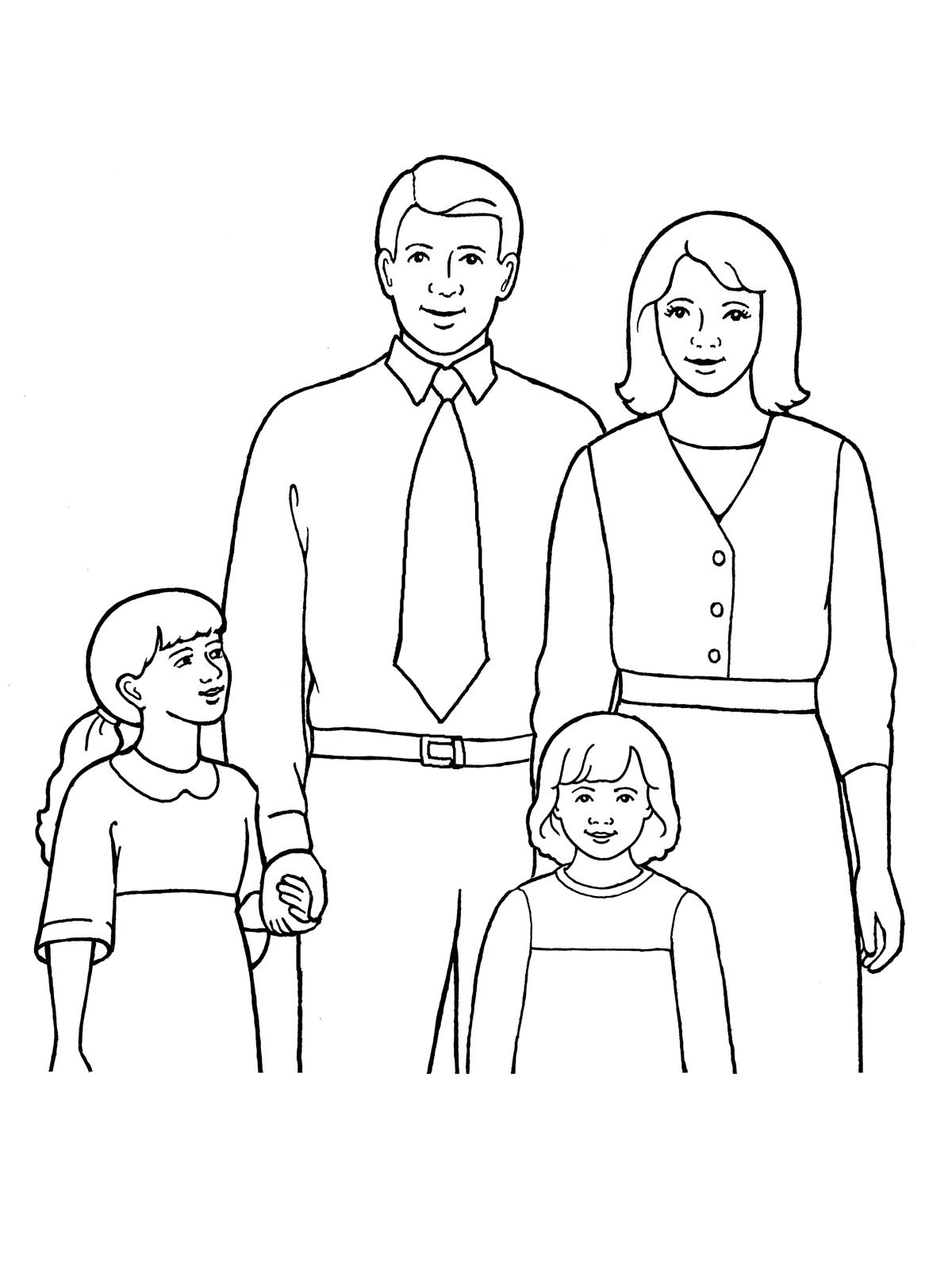 Раскраски мама и папа