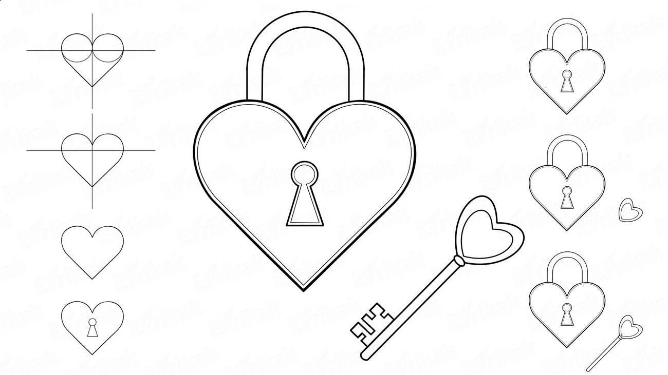 так картинки которые можно срисовать сердце буфеты для