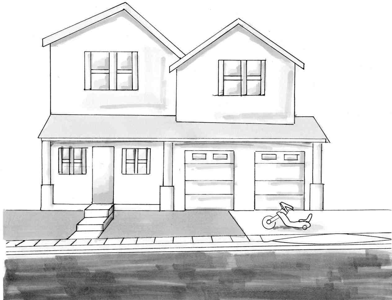 Рисование домов картинки