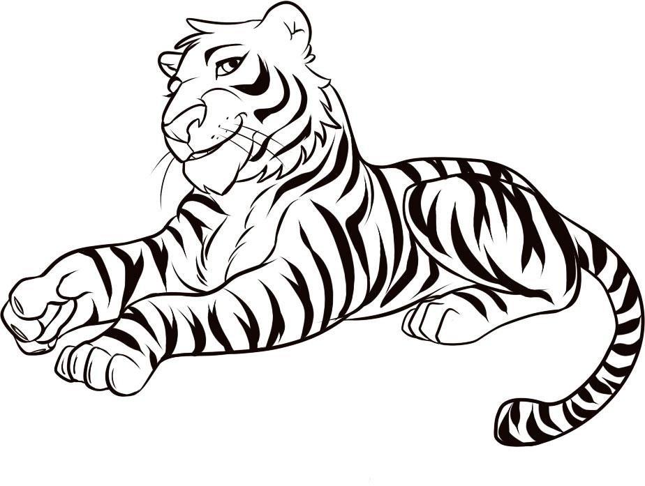 Картинки тигра для срисовки, для открытки
