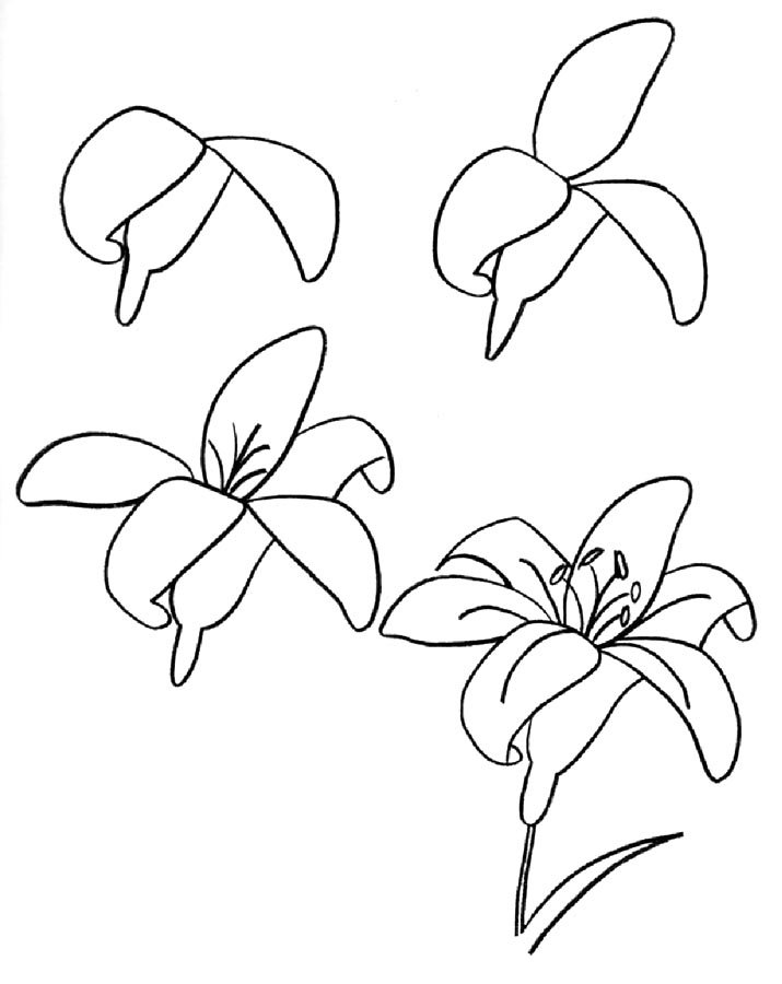Картинка цветы как нарисовать