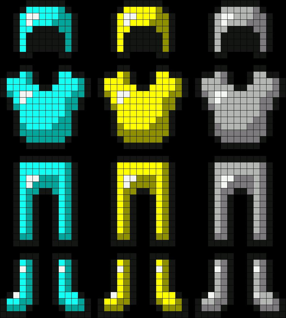 Картинки на клеточках в тетради майнкрафт
