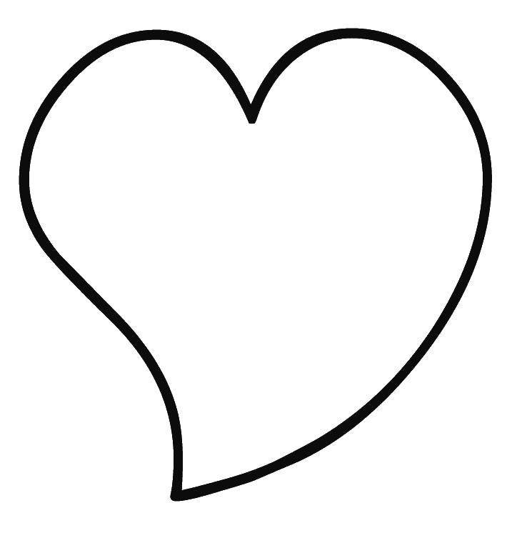сердце контур картинка