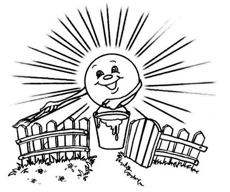рисунок солнечного дня карандашом может быть явным