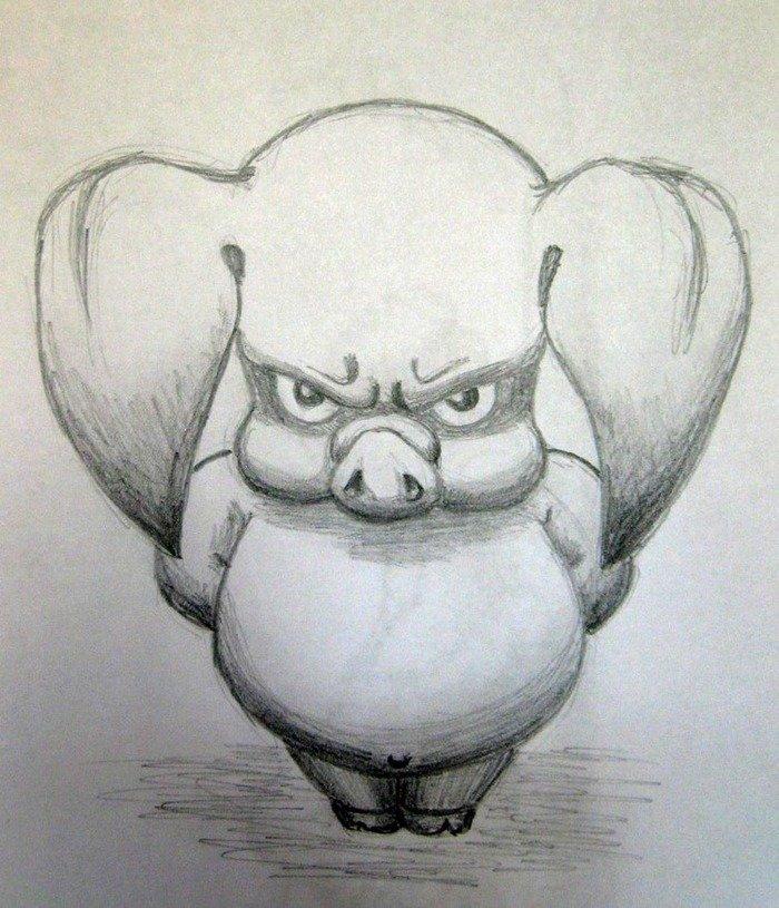 Прикольные злые картинки для срисовки легкие из мультиков смешные