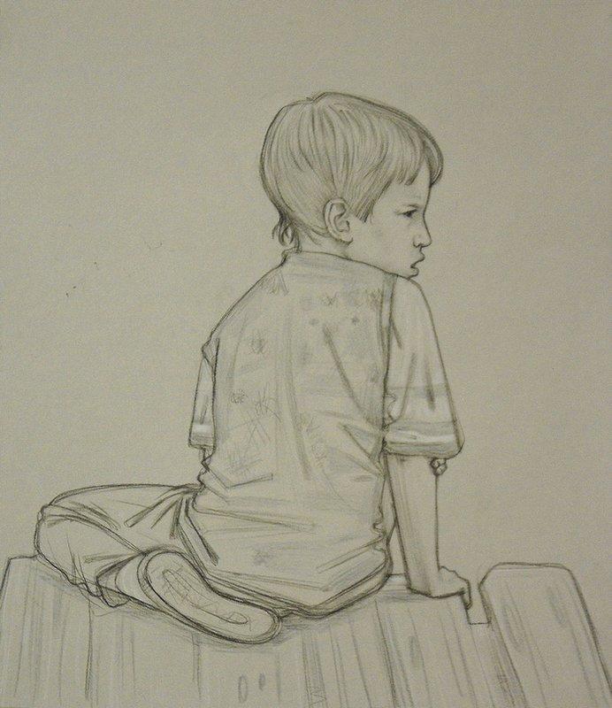 Картинки маленького человека карандашом