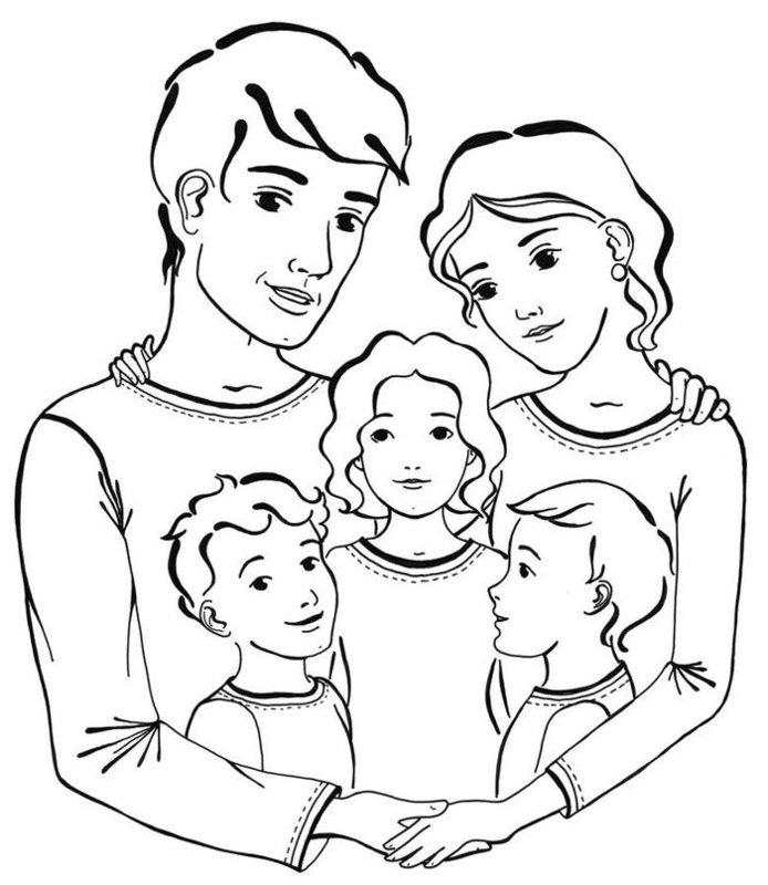 Рисунок счастливая семья для срисовки