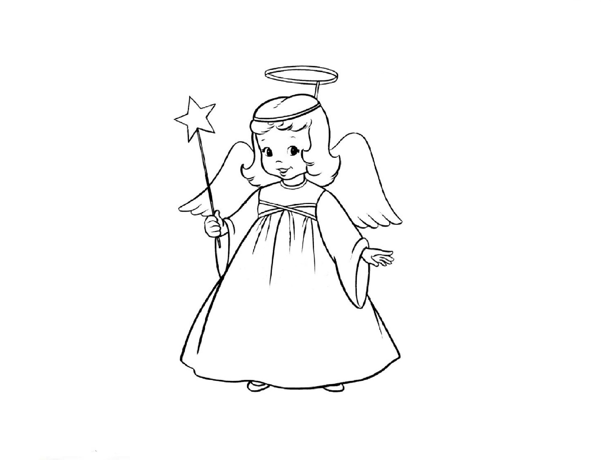 Картинки ангелов чтобы нарисовать