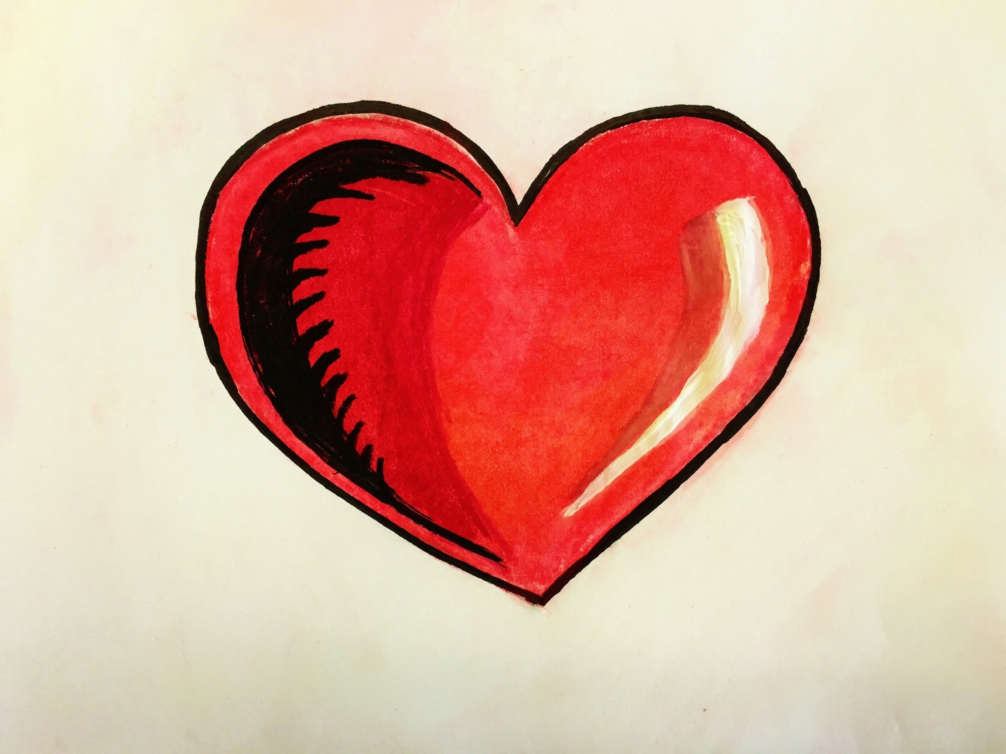 Прикольные картинки с сердечком срисовка