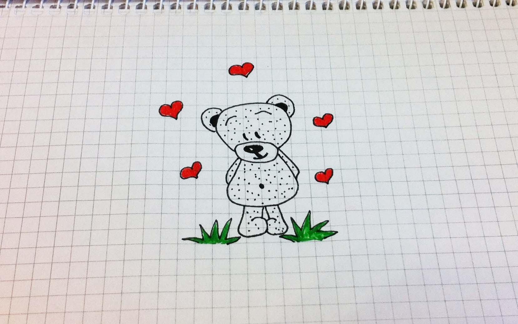 Прикольные рисунки простым карандашом в тетради, пожелания хорошего