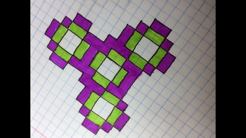 Рисунки для личного дневника по клеточкам