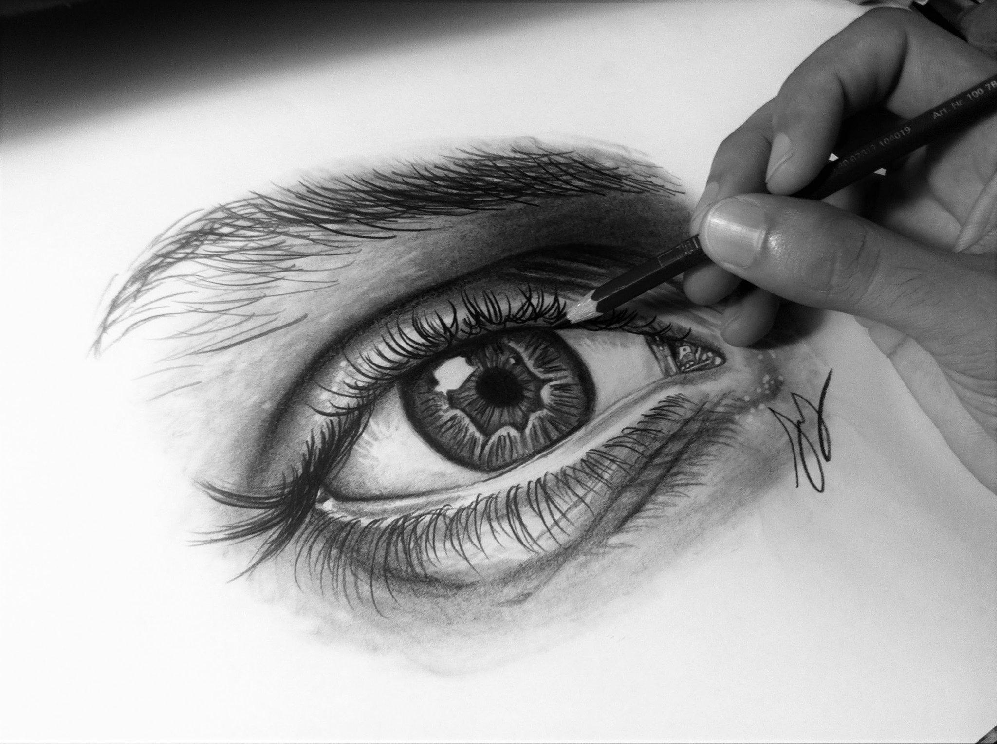 девушка реалистичные рисунки простым карандашом оставили уехали город