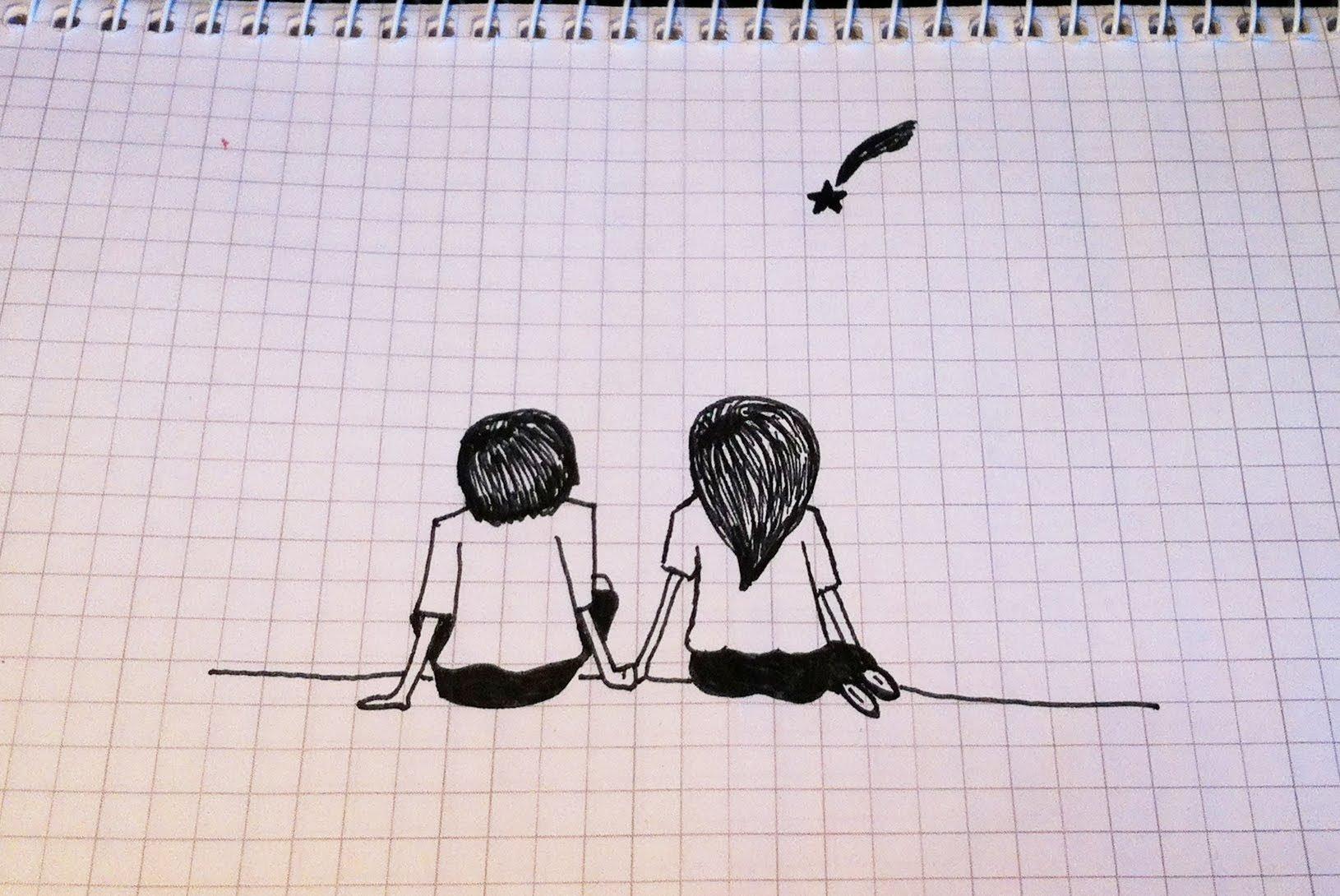 Картинки карандашом прикольные про любовь