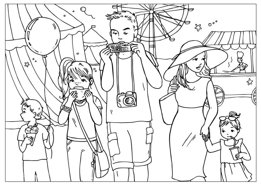 Выходные рисунок карандашом