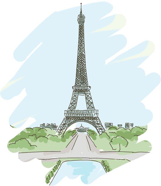 Эльфивая башня рисунок